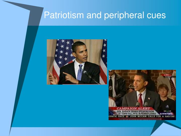 Patriotism and peripheral cues