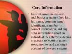 core information