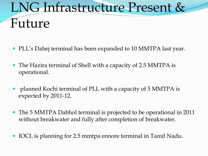 LNG Infrastructure Present & Future