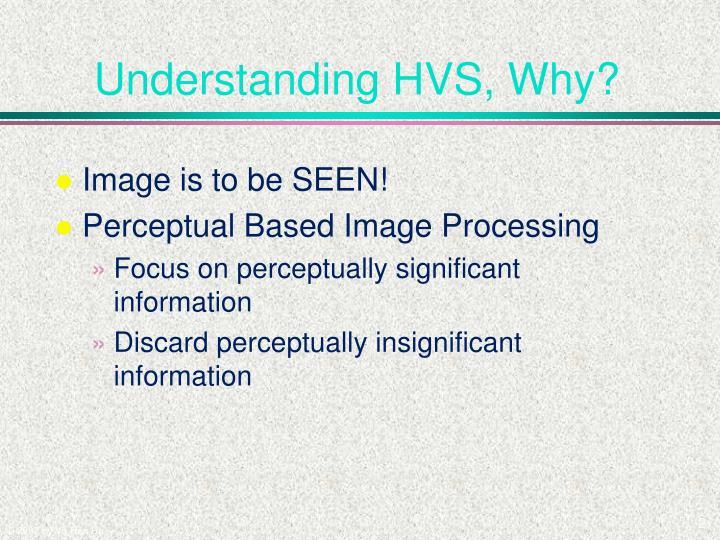 Understanding hvs why