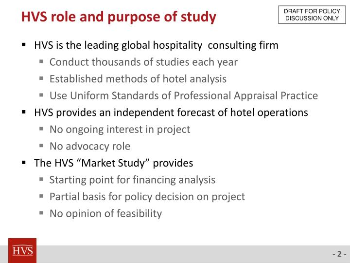Hvs role and purpose of study