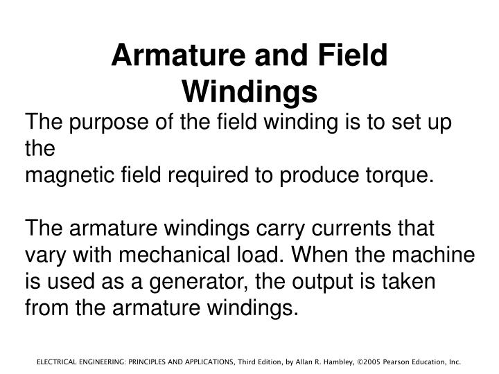 Armature and Field Windings