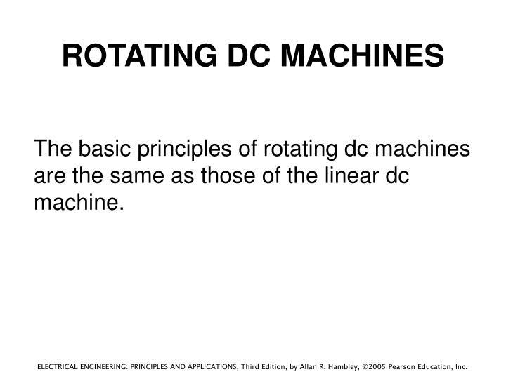 ROTATING DC MACHINES