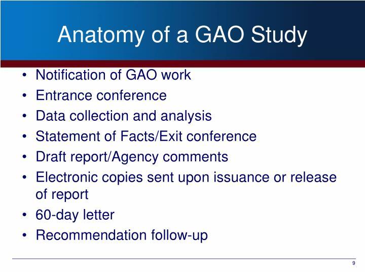 Anatomy of a GAO Study
