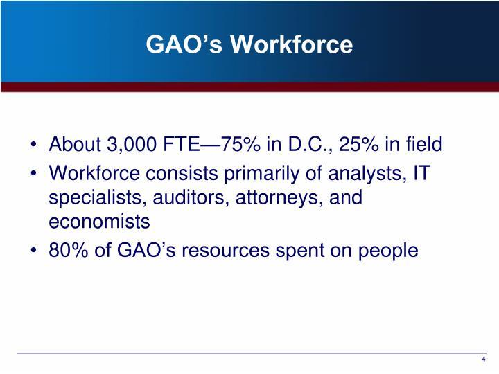 GAO's Workforce