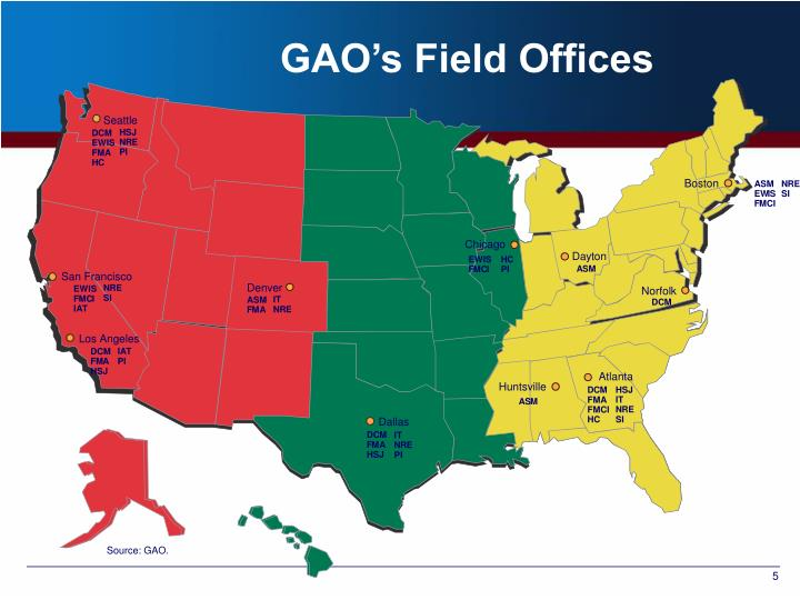 GAO's Field Offices