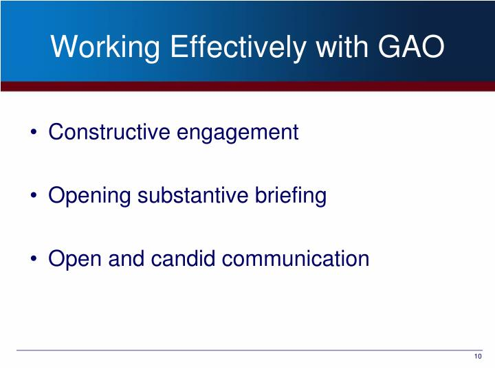 Working Effectively with GAO