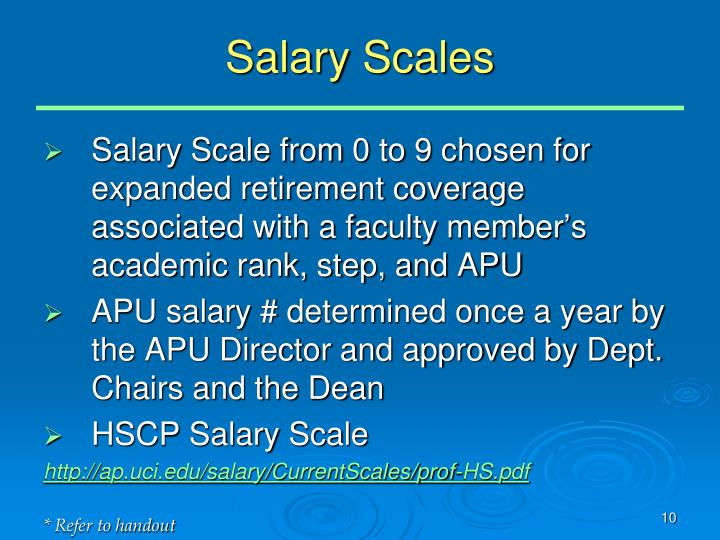 Salary Scales