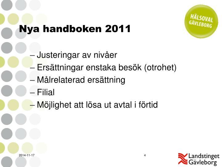 Nya handboken 2011