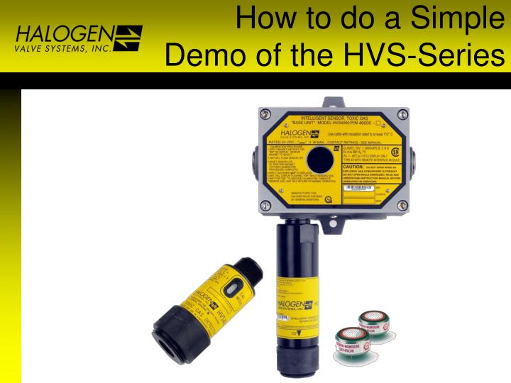 How to do a Simple Demo of the HVS-Series
