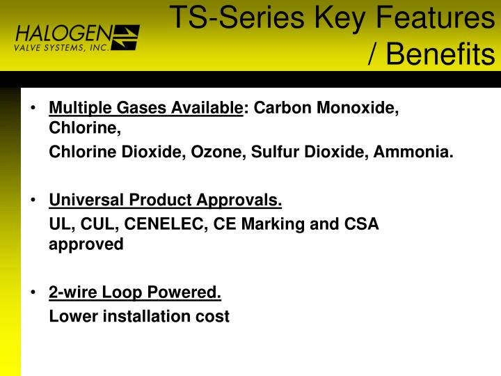 TS-Series Key Features / Benefits