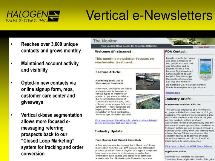 Vertical e-Newsletters