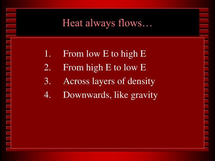 Heat always flows…