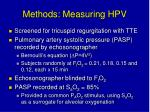 methods measuring hpv