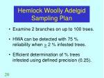 hemlock woolly adelgid sampling plan
