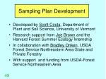 sampling plan development