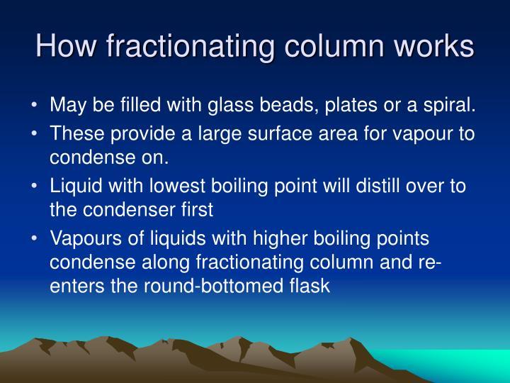 How fractionating column works
