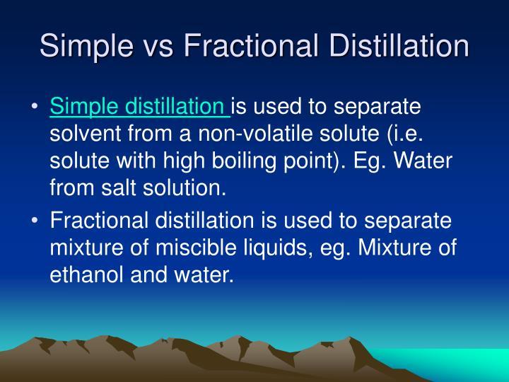 Simple vs Fractional Distillation