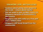 singapore 1948 british views