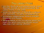 the labour front
