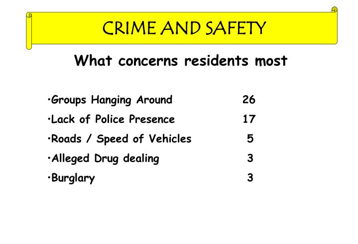 CRIME AND SAFETY