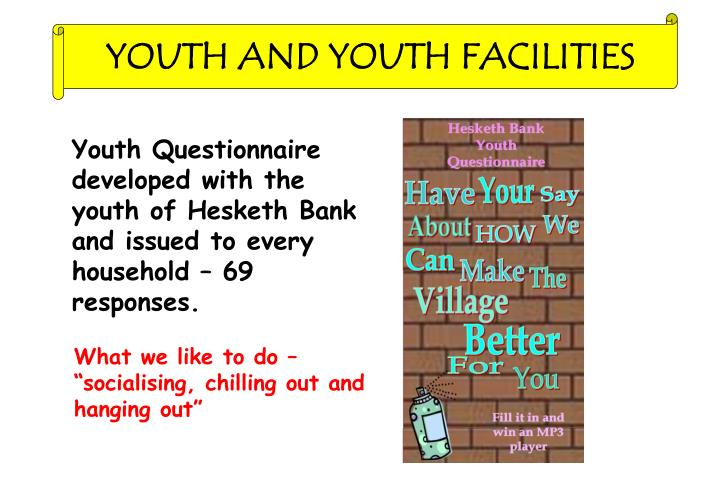 YOUTH AND YOUTH FACILITIES