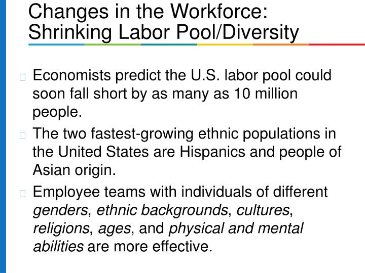 Economists predict the U.S. labor pool could soon fall short by as many as 10 million people.