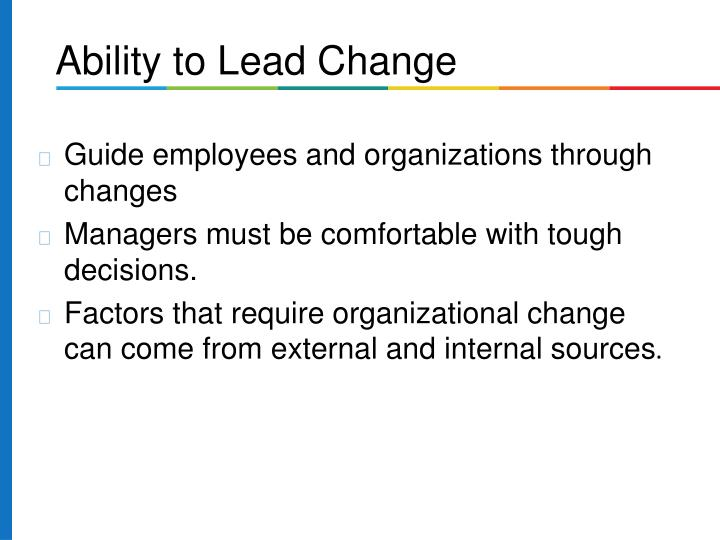 Guide employees and organizations through changes