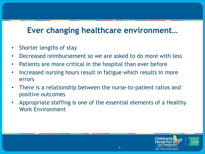 Ever changing healthcare environment…