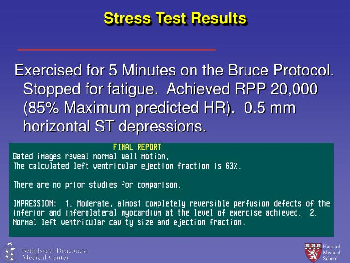 Stress Test Results