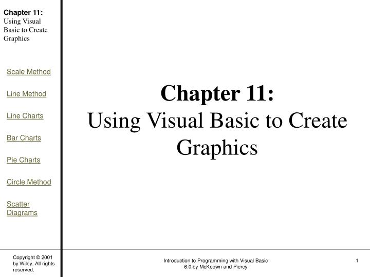 Chapter 11 using visual basic to create graphics