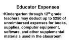 educator expenses