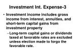 investment int expense 3