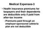 medical expenses 3
