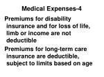 medical expenses 4