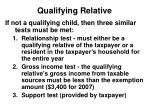 qualifying relative