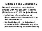 tuition fees deduction 2