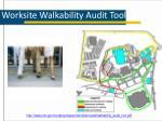 worksite walkability audit tool