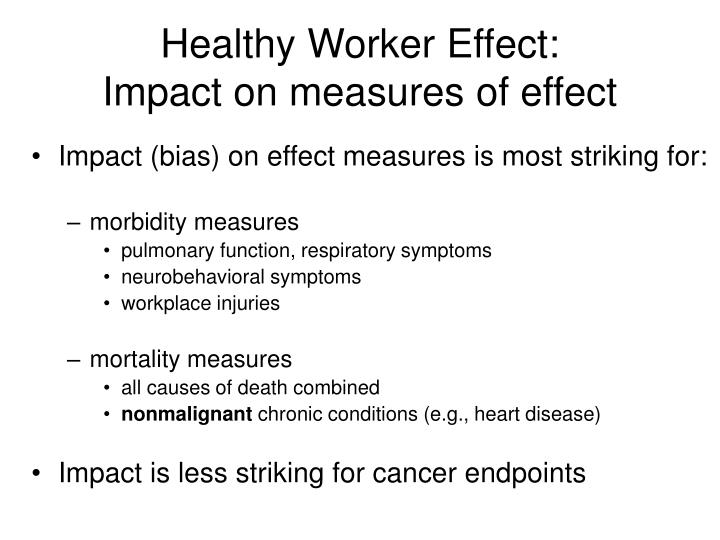 Healthy Worker Effect: