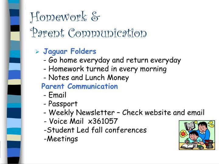Homework &