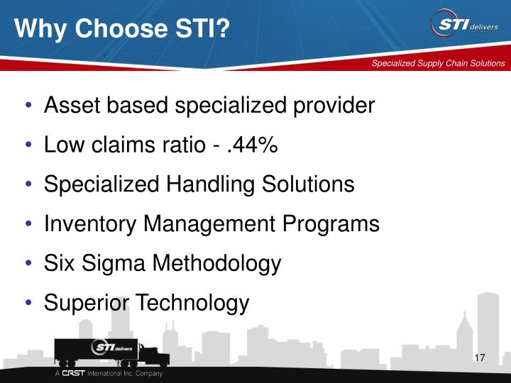Why Choose STI?