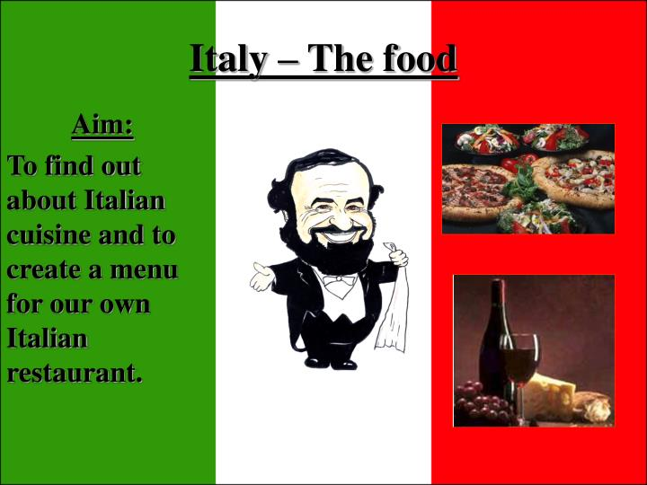 Italy the food