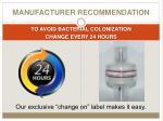 manufacturer recommendation