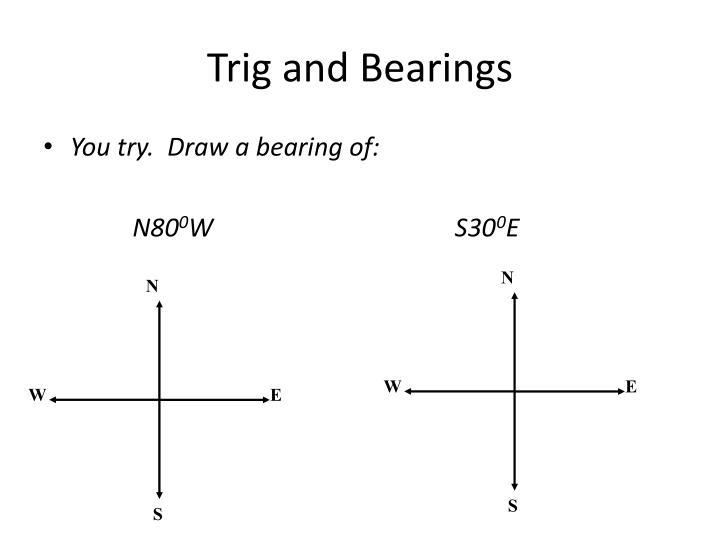 Trig and Bearings