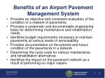 benefits of an airport pavement management system