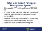 what is an airport pavement management system
