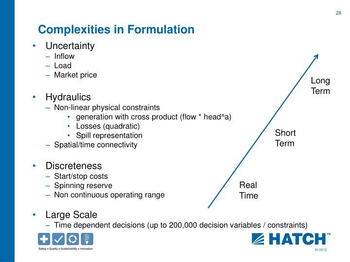 Complexities in
