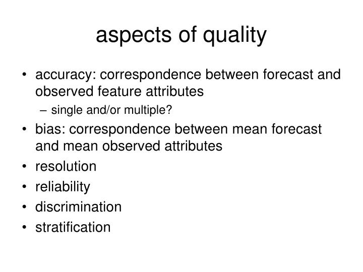 aspects of quality