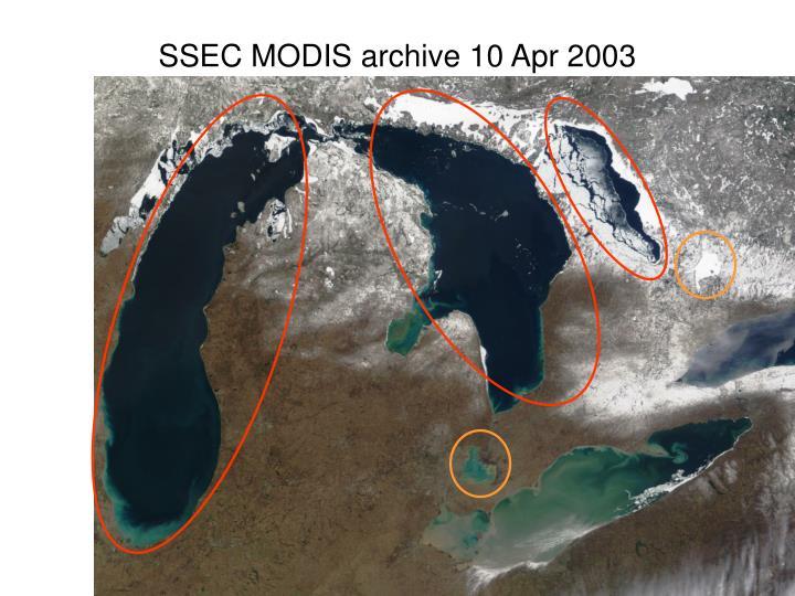 SSEC MODIS archive 10 Apr 2003