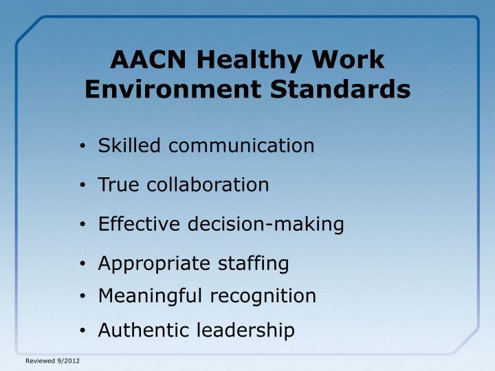AACN Healthy Work